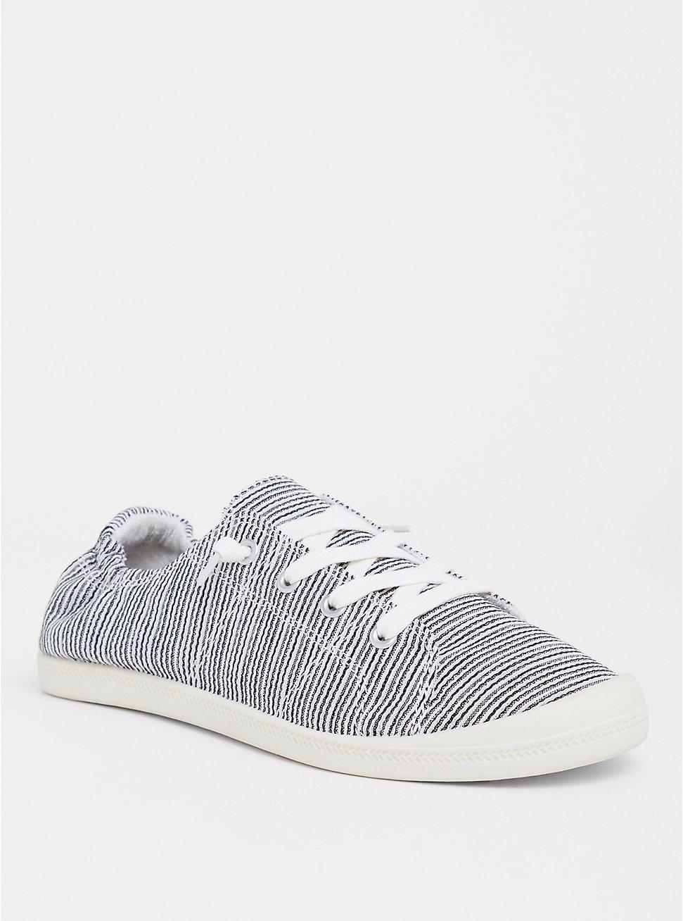 Riley - Stripe Ruched Sneaker (WW), MULTI STRIPE, hi-res