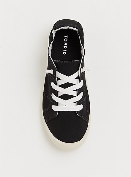 Riley - Black Ruched Sneaker (WW), BLACK, alternate