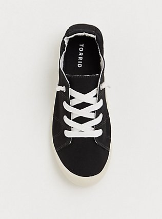 Black Ruched Sneaker (WW), BLACK, alternate