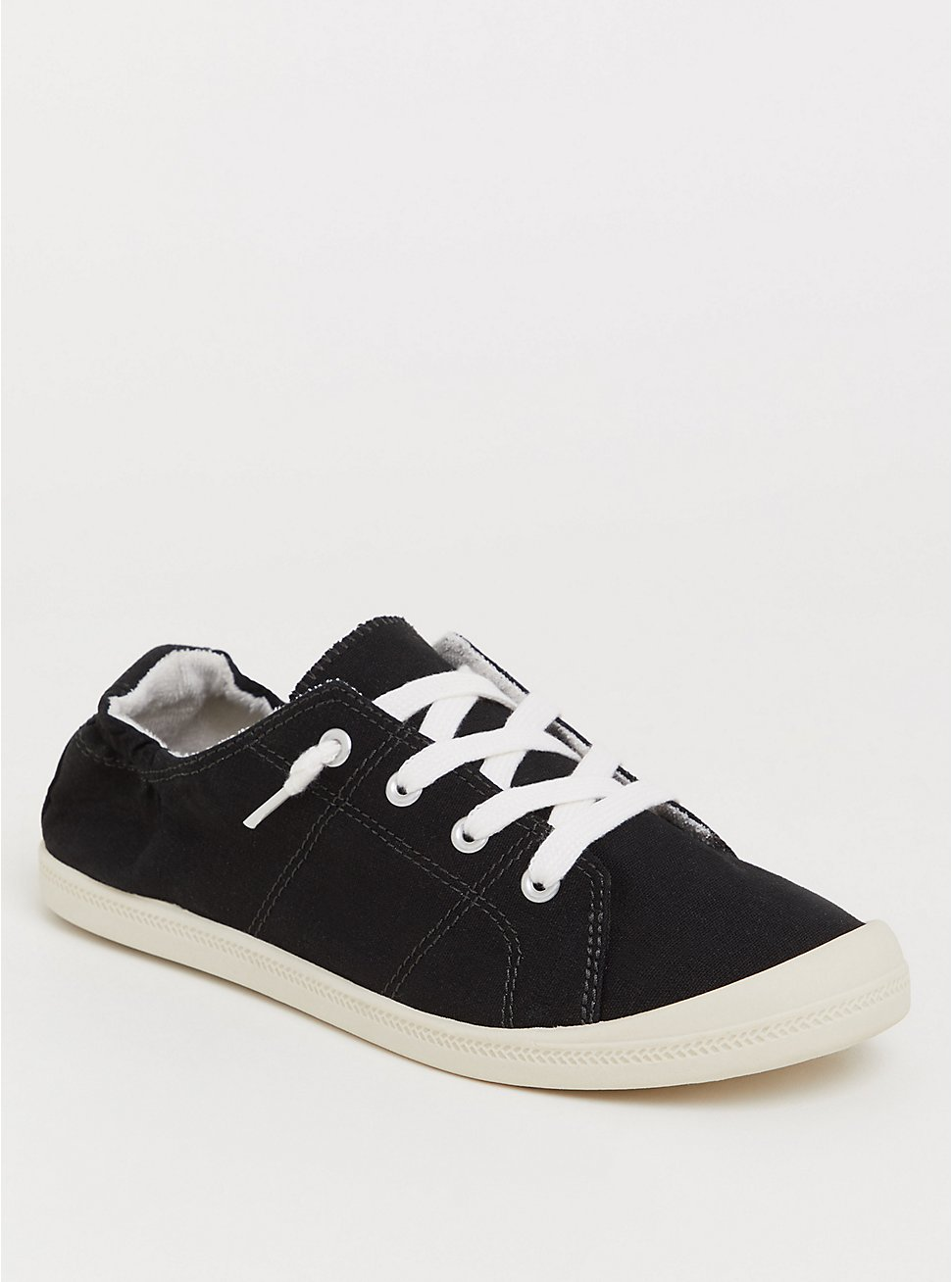 Riley - Black Ruched Sneaker (WW), BLACK, hi-res