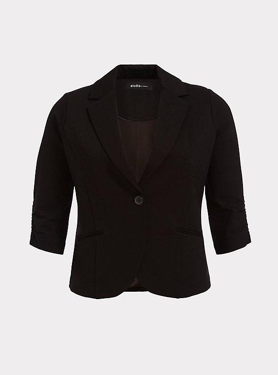 Plus Size Studio Soho Premium Ponte Back Stretch Blazer