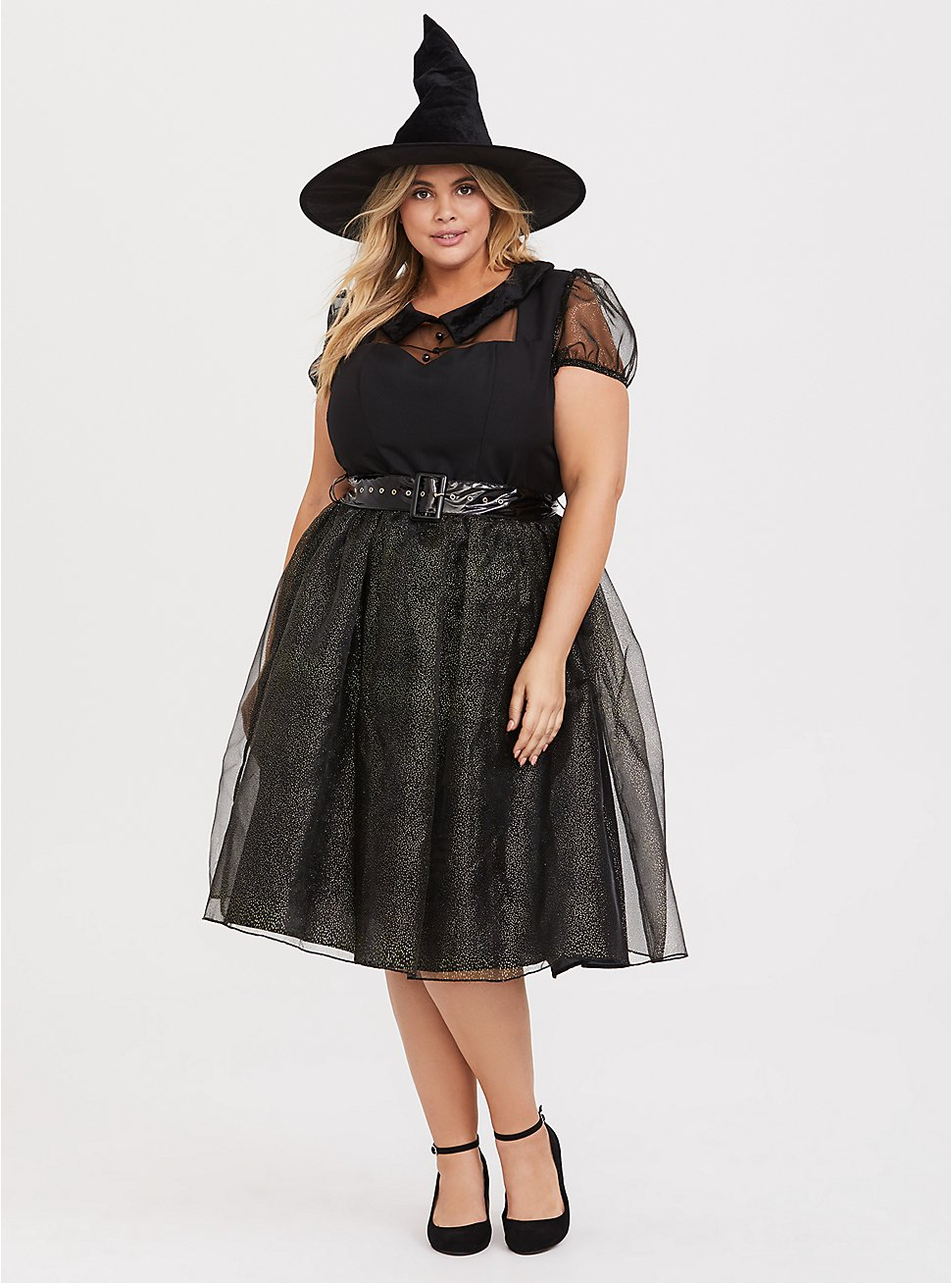 Plus Size Leg Avenue Darling Spell Caster Halloween Costume, BLACK, hi-res