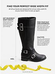 Brown Faux Leather Buckle Boot (Wide Width & Wide to Extra Wide Calf), BROWN, alternate