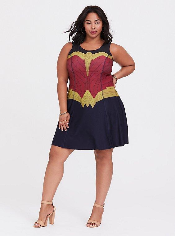 Her Universe DC Comics Wonder Woman Reversible Skater Dress, , hi-res