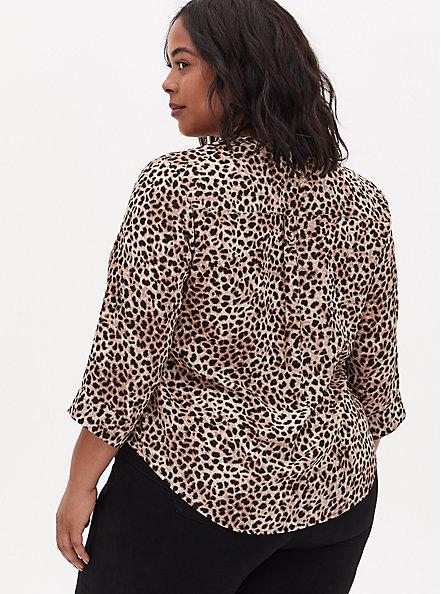 Harper - Leopard Georgette Pullover Blouse, CHEE LEOPARD, alternate