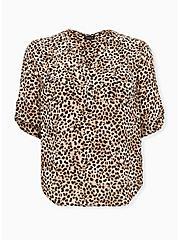 Harper - Leopard Georgette Pullover Blouse, CHEE LEOPARD, hi-res