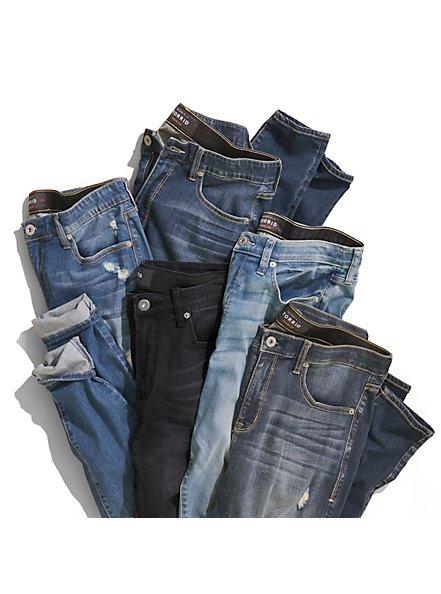 Sky High Skinny Jean - Premium Stretch Dark Wash, BLUE DREAM, alternate
