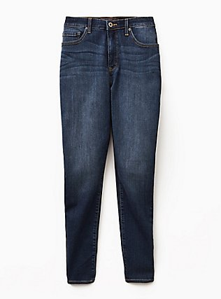 Sky High Skinny Jean - Premium Stretch Dark Wash, BLUE DREAM, flat