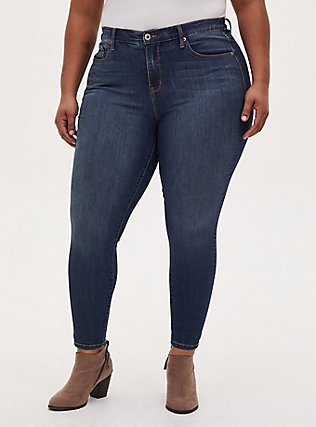 Sky High Skinny Jean - Premium Stretch Dark Wash, BLUE DREAM, hi-res