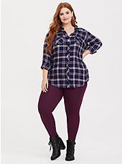 Premium Legging - Burgundy Purple, HIGHLAND THISTLE, alternate