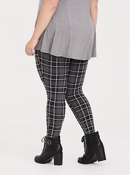 Premium Legging - Plaid Grey, MULTI, alternate