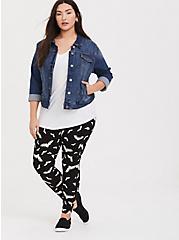 Premium Legging - Bat Print Black & White, MULTI, hi-res