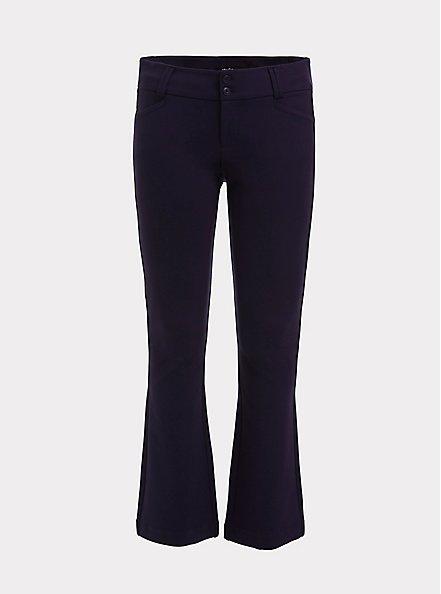 Plus Size Studio Signature Stretch Navy Premium Ponte Trouser, NAVY, hi-res