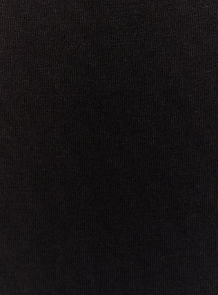 Plus Size Super Soft Black Scoop Neck Layering Tank, DEEP BLACK, alternate