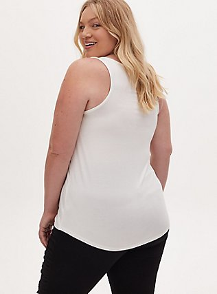 Super Soft White Scoop Neck Layering Tank, CLOUD DANCER, alternate