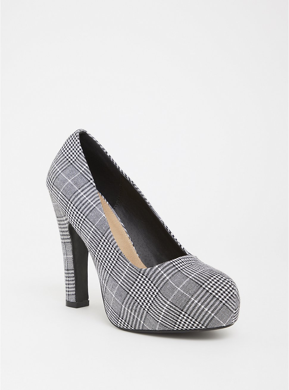 Plaid Platform Pump (WW), MULTI, hi-res