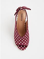 Plus Size Polka Dot Sling Back Heel (WW), MULTI, alternate