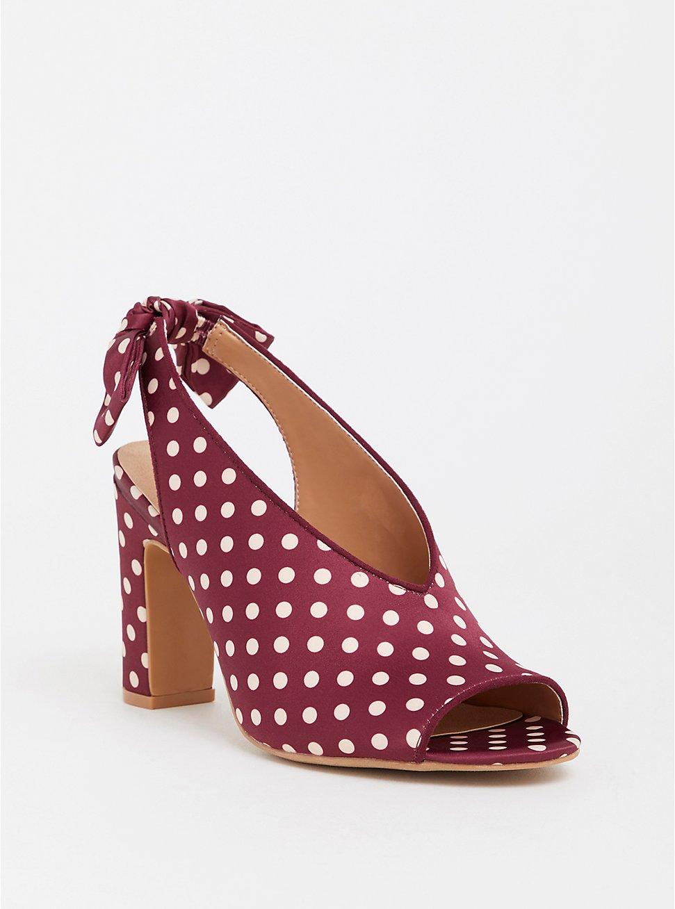 Plus Size Polka Dot Sling Back Heel (WW), MULTI, hi-res