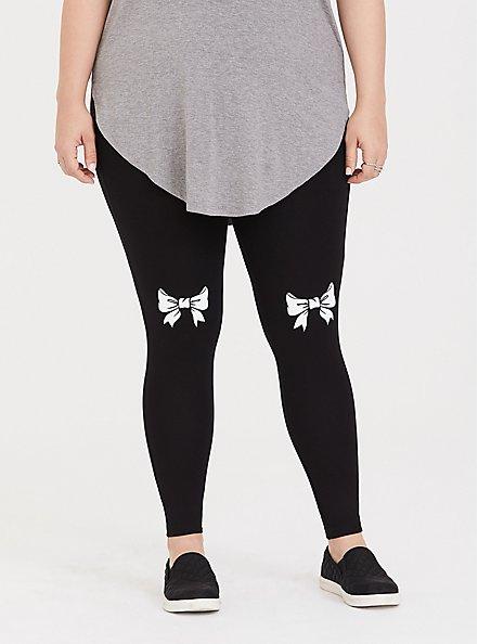Premium Legging - Bow Black, BLACK, alternate
