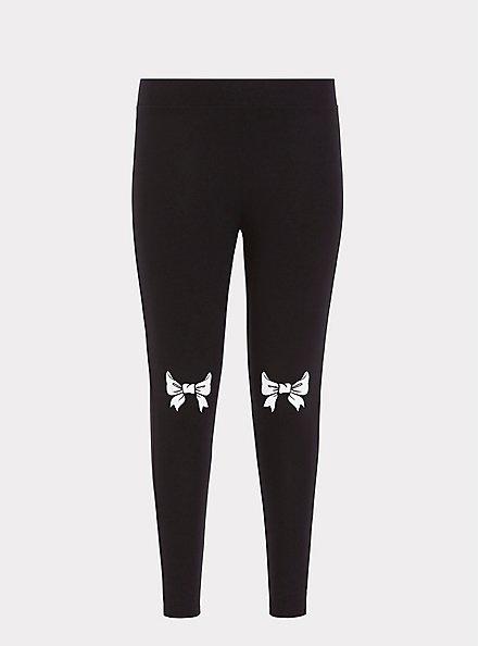 Premium Legging - Bow Black, BLACK, hi-res