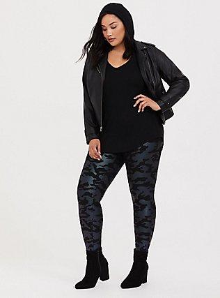 Premium Legging - Camo Metallic Black, MULTI, hi-res