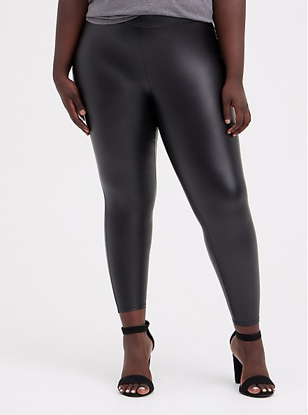 Platinum Legging – Faux Leather Black, BLACK, alternate