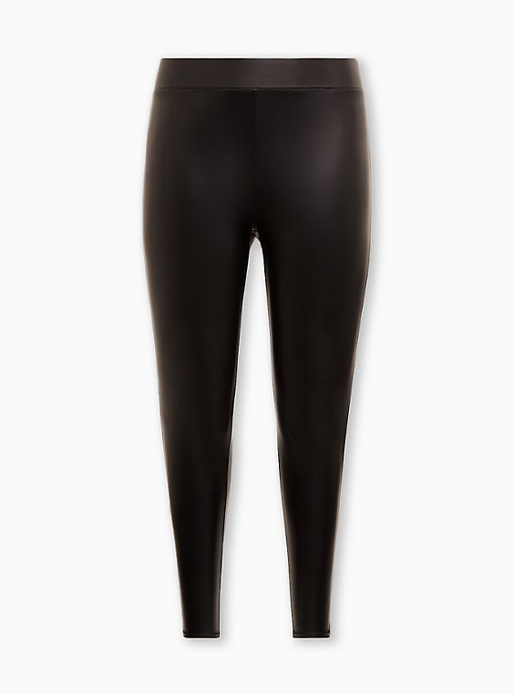 Platinum Legging – Faux Leather Black, BLACK, ls
