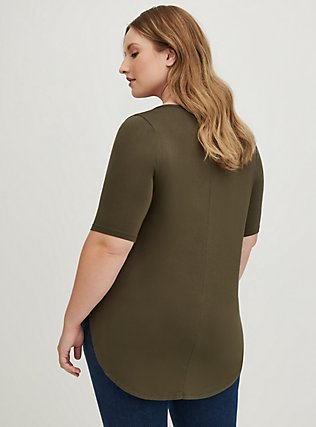 Super Soft Olive Green Favorite Tunic Tee, DEEP DEPTHS, alternate