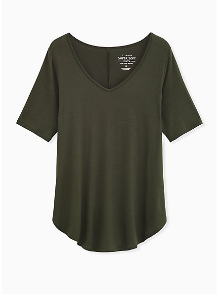 Super Soft Olive Green Favorite Tunic Tee, DEEP DEPTHS, hi-res
