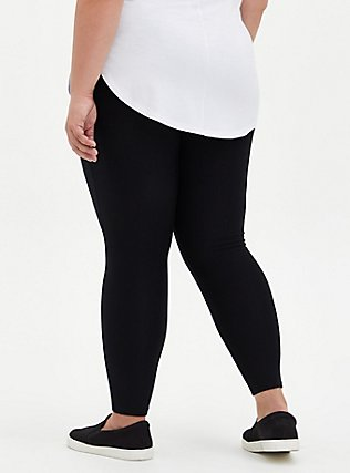 Platinum Leggings - Fleece Lined Black, BLACK, alternate