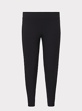 Platinum Leggings - Fleece Lined Black, BLACK, flat
