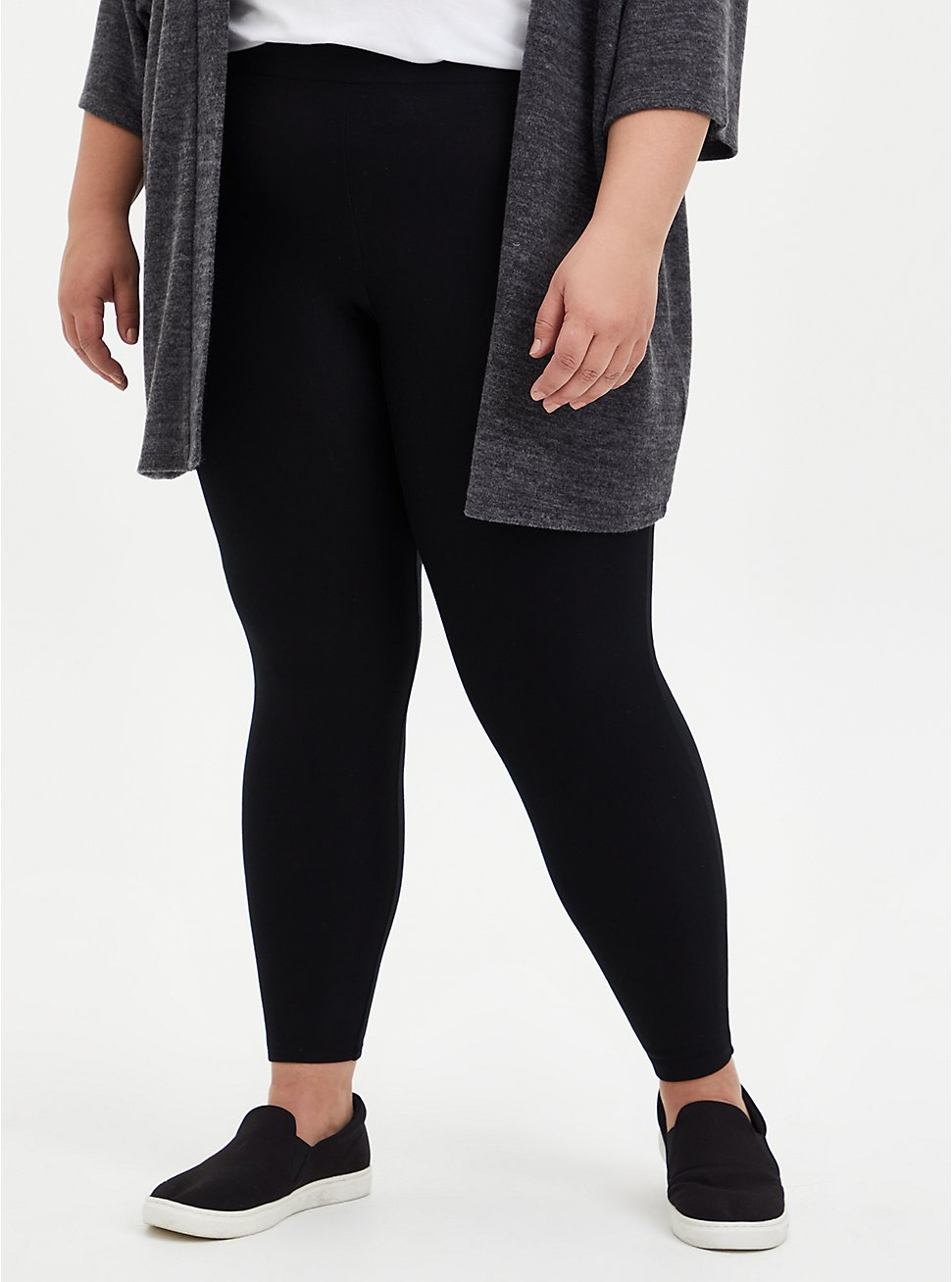 Platinum Leggings - Fleece Lined Black, BLACK, hi-res