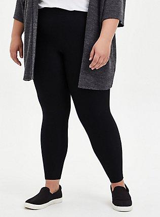 Platinum Leggings - Fleece Lined Black, BLACK, hi-res