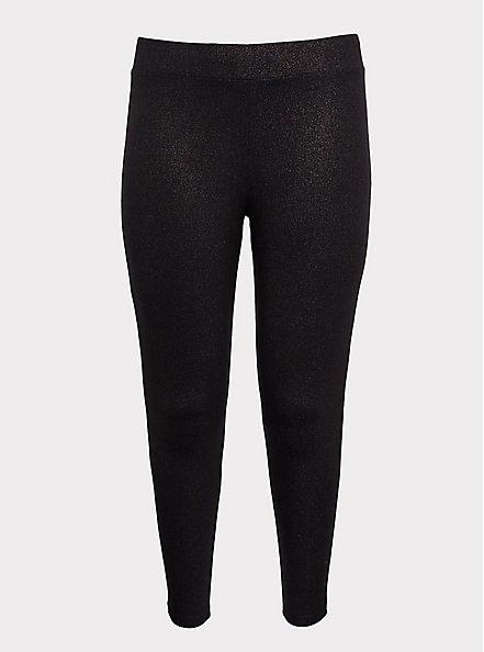 Premium Legging - Champagne Shimmer Black, BLACK, hi-res