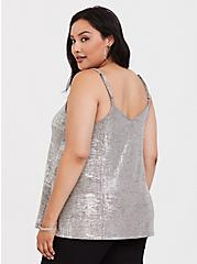 Foil Hacci Swing Cami, SILVER, alternate