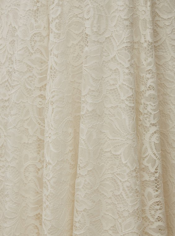 Special Occasion Ivory Lace Tea-Length Gown - Plus Size   Torrid