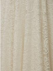 Ivory Lace Tea-Length Wedding Dress, CLOUD DANCER, alternate