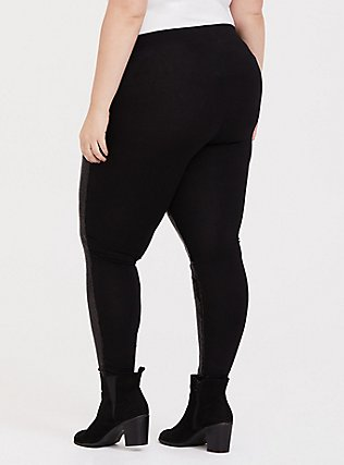 Plus Size Platinum Legging - Sequin Black, BLACK, alternate