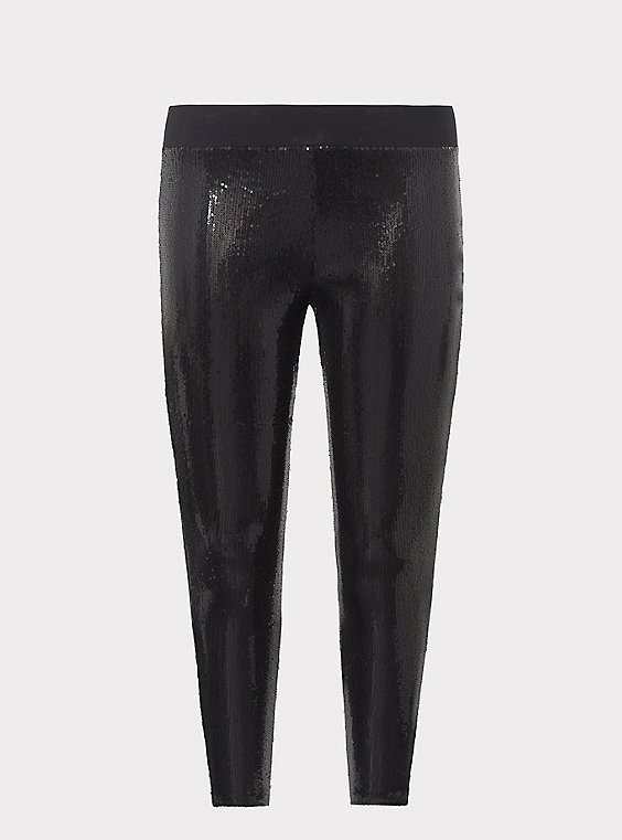 Platinum Legging - Sequin Black, , flat