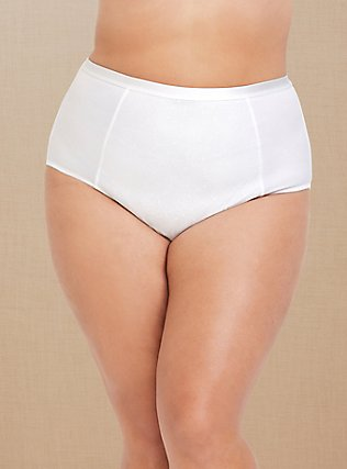 White Microfiber 360° Smoothing Brief Panty, BRIGHT WHITE, pdped