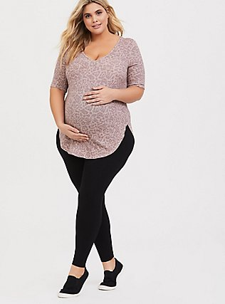 Maternity Premium Legging - Black, BLACK, alternate