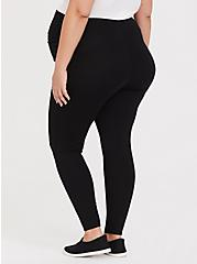 Plus Size Maternity Premium Legging - Black, BLACK, alternate