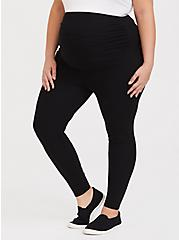 Plus Size Maternity Premium Legging - Black, BLACK, hi-res