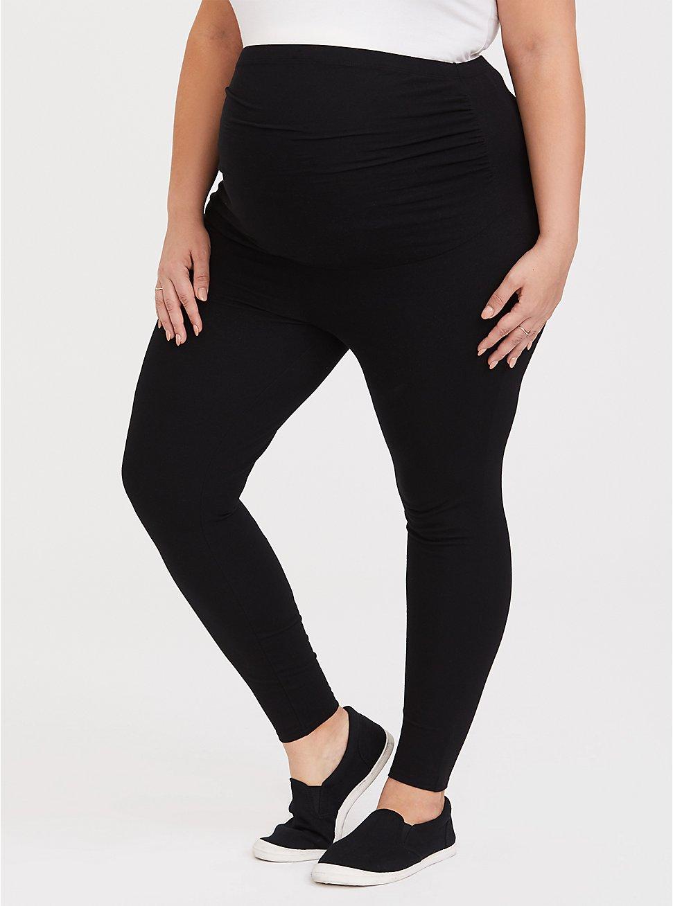 Plus Size Maternity Premium Legging - Black, BLACK, hi-res