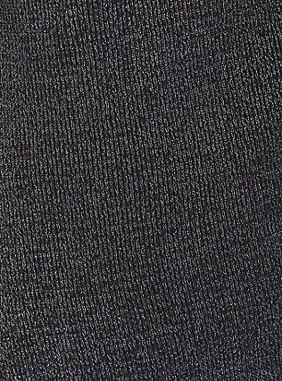 Grey Ribbed Shawl Drape Front Cardigan, GREY, alternate