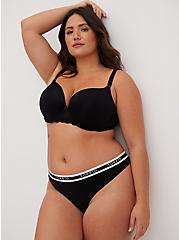 Black 360° Back Smoothing™ Push-Up T-Shirt Bra, RICH BLACK, hi-res