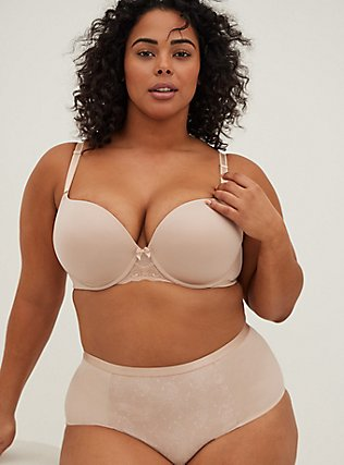 Nude Microfiber 360° Back Smoothing™ Push-Up T-Shirt Bra, ROSE DUST, alternate