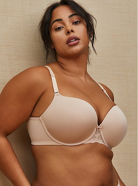 Beige 360° Back Smoothing™ Push-Up T-Shirt Bra, ROSE DUST, hi-res