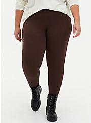 Premium Legging - Chocolate Brown, BROWN, alternate
