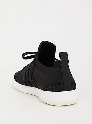 Plus Size Black Nylon Mesh Sneaker (WW), BLACK, alternate